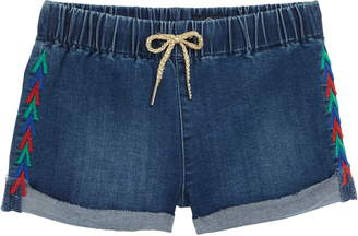 AG Jeans (エー ジー) - AG The Nellie Embroidered Pull-On Denim Shorts