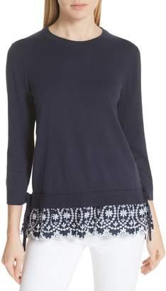 Kate Spade Eyelet Hem Sweater