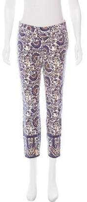Tory Burch Printed Low-Rise Jeans