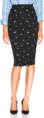 Victoria Beckham Mini Floral Pencil Skirt