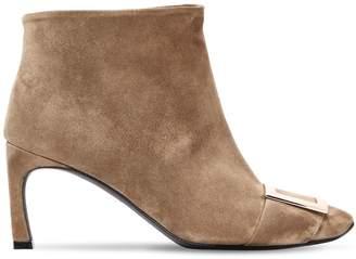 Roger Vivier 70mm Trompette Suede Ankle Boots
