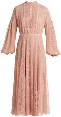 Giambattista Valli Circle macramé lace long dress