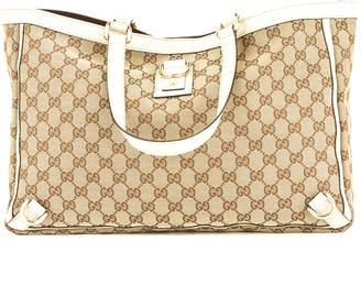 Gucci Creme Leather GG Monogram Large Abbey D-Ring (3894011)