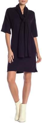 Kier & J Tie Neck Cashmere Sweater Dress
