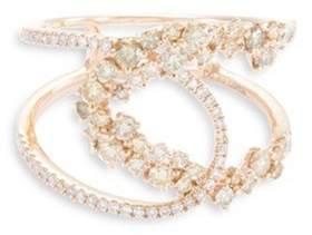 Lorde Jewlery 'Birdy Interlace' diamond 18k rose gold cutout ring