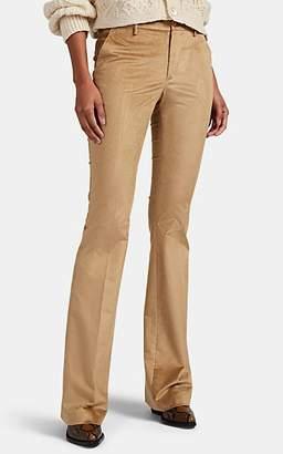 Pt01 Women's Elsa Cotton-Blend Corduroy Flared Trousers - Beige, Tan