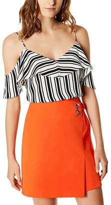 Karen Millen Cold-Shoulder Striped Camisole