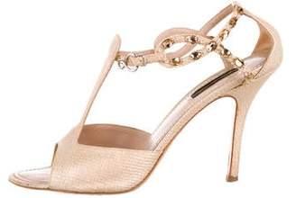 Louis Vuitton Metallic Embellished Sandals