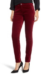 Nic+Zoe Stretch Velvet Skinny Pants
