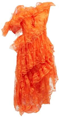Preen by Thornton Bregazzi Cecilia Ruffled Floral Lace Dress - Womens - Orange