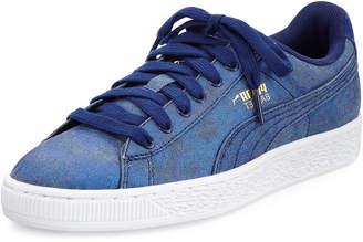 Puma Basket Iridescent Denim Sneaker