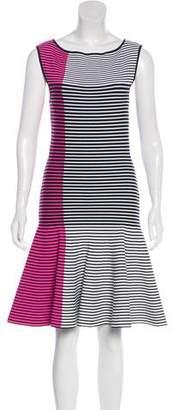 Ohne Titel Striped Knee-Length Dress
