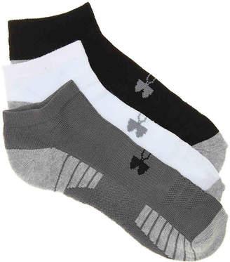 Under Armour HeatGear Tech No Show Socks - 3 Pack - Men's
