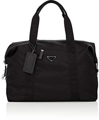 Prada Men's Small Leather-Trimmed Duffel Bag