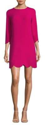 Shoshanna Scalloped Hem Dress
