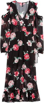H&M Open-shoulder Dress - Black