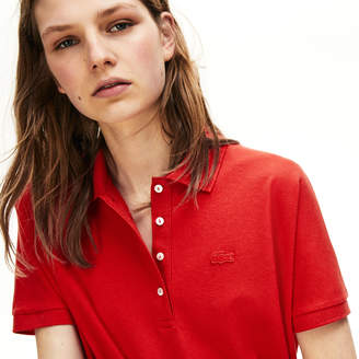 Lacoste Women's Modern Fit Flowing Stretch Cotton Pique Polo
