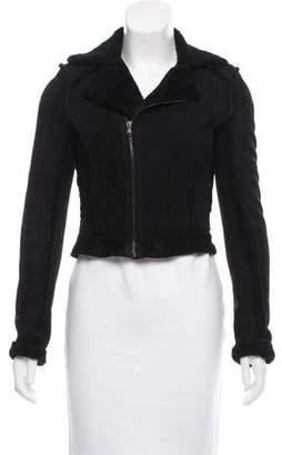 L'Agence Shearling Moto Jacket