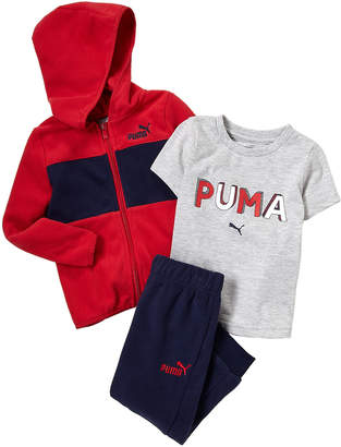 Puma Toddler Boys) 3-Piece Fleece Jacket, Tee & Fleece Jogger Set