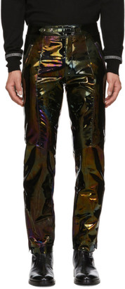 Givenchy Black Iridescent Leather Trousers