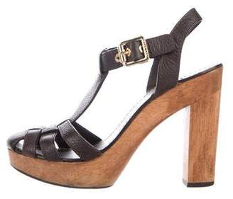 badc730b7 Tory Burch Wooden Heel Women s Sandals - ShopStyle