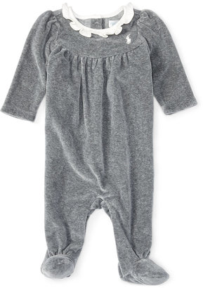 Ralph Lauren Baby Girls' Footed Coverall $39.50 thestylecure.com