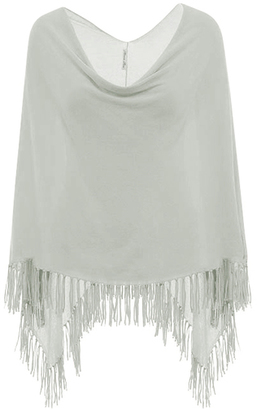 Minnie Rose - Cotton Fringe Ruana $52 thestylecure.com