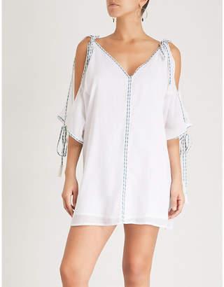 Pitusa Mini Ottoman cotton-gauze dress