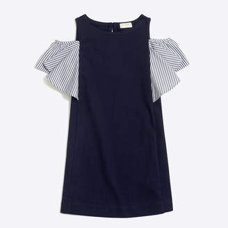 J.Crew Factory Girls' flutter-sleeve cold shoulder dress