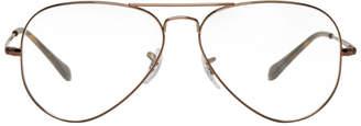 Ray-Ban Brown Pilot Glasses