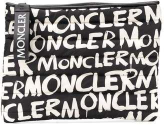 Moncler graffiti clutch bag