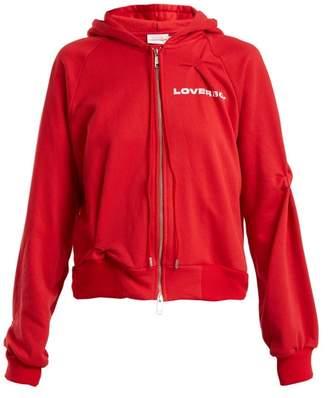 Charles Jeffrey Loverboy - Hooded Logo Print Sweatshirt - Womens - Red