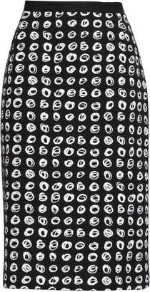 Oscar de la Renta Printed Cotton-blend Boucle-tweed Pencil Skirt