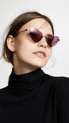 Saint Laurent SL 254 Rimless Lou Lou Sunglasses