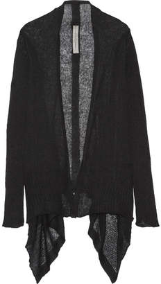 Rick Owens - Open-knit Alpaca-blend Cardigan - Black $550 thestylecure.com