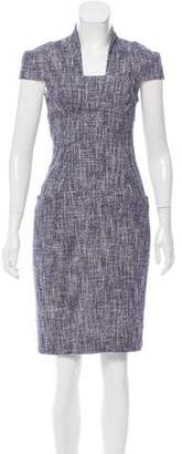 Lela Rose Tweed Knee-Length Dress
