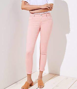 LOFT Curvy Skinny Crop Jeans