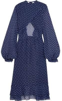 Sandy Liang Lorelai Open-Back Printed Silk-Georgette Tunic