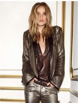 Paige Rosie HW x Collection Bessy Shirt - Black Metallic