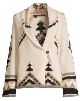 360 Cashmere Women's Koko Bell-Sleeve Cashmere Cardigan - Chalk Multi - Size XS