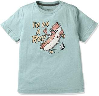 Volcom (ヴォルコム) - (ボルコム) VOLCOM 子供用 かわいい 半袖 プリント Tシャツ 【 Y5711733 / On A Roll S/S TEE 】 Y5711733 SBL SBL_ブルー 4T
