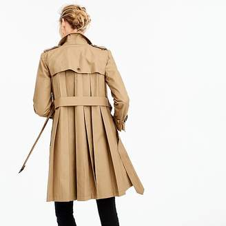 J.Crew Pleated trench coat