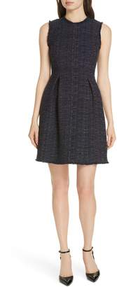 Rebecca Taylor Rainbow Tweed Fit & Flare Dress