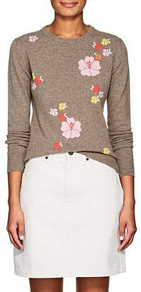 Barneys New York Women's Floral Cashmere Sweater - Brown