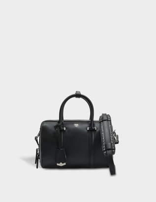 MCM Boston Small Bag in Black Nylon