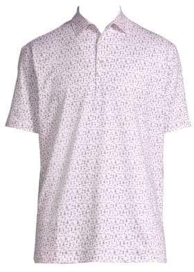 Peter Millar Corkscrew Print Polo Shirt