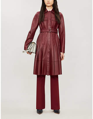 Sportmax Pausa belted leather coat