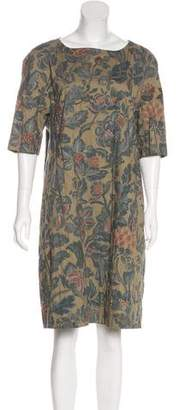 Dries Van Noten Floral Print Knee-Length Dress