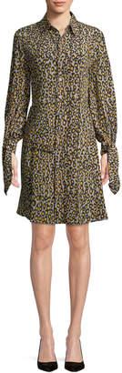 Derek Lam Women's Leopard Shirt Dress