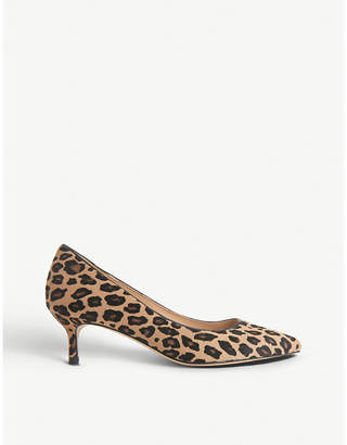 LK Bennett Audrey leather wide fit leather court shoes